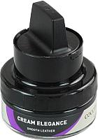 Крем для обуви Coccine Cream Elegance с губкой для гладкой кожи (50мл, черный) -