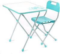 Комплект мебели с детским столом Ника Ретро / КПР/2 (бирюзовый) -