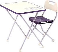 Комплект мебели с детским столом Ника Ретро / КПР/3 (сиреневый) -