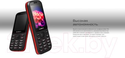 Мобильный телефон Texet TM-218 (черный/красный) -