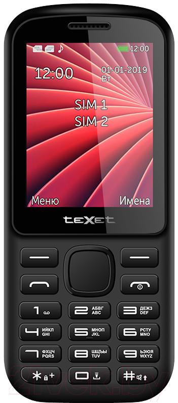 Купить Мобильный телефон Texet, TM-218 (черный/красный), Китай