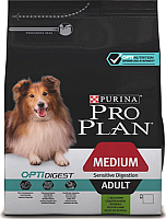 Корм для собак Pro Plan Adult Medium Sensitive Digestion с ягненком и рисом (3кг) -
