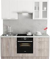 Готовая кухня Хоум Лайн Адель 1.8 (дуб клабхаус серый/белый снег) -