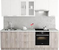 Готовая кухня Хоум Лайн Адель 2.5 (дуб клабхаус серый/белый снег) -