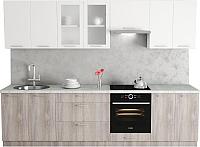 Готовая кухня Хоум Лайн Адель 2.9 (дуб клабхаус серый/белый снег) -