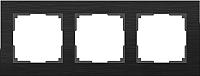 Рамка для выключателя Werkel Alluminium WL11-Frame-03 / A039118 (черный) -