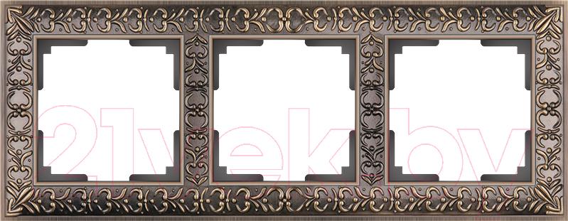 Купить Рамка для выключателя Werkel, Antik WL07-Frame-03 / A029840 (бронза), Россия, пластик, Antik (Werkel)