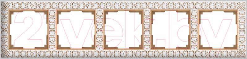 Купить Рамка для выключателя Werkel, Antik WL07-Frame-05 / a036752 (белое золото), Россия, пластик, Antik (Werkel)