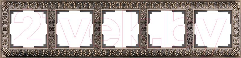 Купить Рамка для выключателя Werkel, Antik WL07-Frame-05 / a030758 (бронза), Россия, пластик, Antik (Werkel)