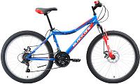 Велосипед Black One Ice D 2019 (24, голубой/красный/серебристый) -