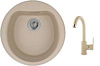 Мойка кухонная Granula GR-5101 + смеситель 35-05 (песок) -