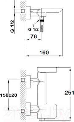 Смеситель Teka Formentera 622310200 - схема