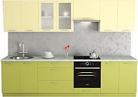 Готовая кухня Хоум Лайн Адель 3.0 (океан зеленый/лимонный сорбет) -
