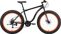 Велосипед Black One Monster 26 D 2018 (18, черный/оранжевый) -