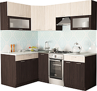 Готовая кухня Хоум Лайн Порто 1.4х2.1 (венге/бодега) -