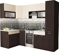 Готовая кухня Хоум Лайн Порто 1.4х2.5 (венге/бодега) -