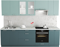 Готовая кухня Хоум Лайн Адель 2.7 (бензин/сумеречный голубой) -