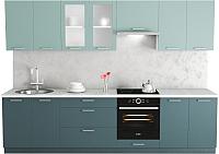 Готовая кухня Хоум Лайн Адель 3.0 (бензин/сумеречный голубой) -