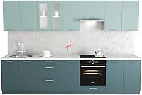 Готовая кухня Хоум Лайн Адель 3.2 (бензин/сумеречный голубой) -