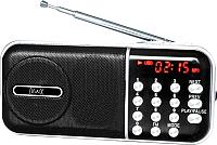 Радиоприемник MAX MR-321 (черный/серебристый) -