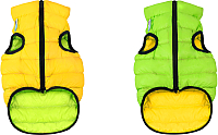 Куртка для животных AiryVest 1612-1 (S, салатовый/желтый) -