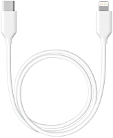 Кабель Deppa USB-C - Lightning / 7223 (белый) -