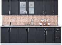 Готовая кухня Интерлиния Мила Крафт 2.7 (дуб английский) -