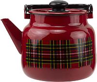 Чайник Лысьвенские эмали Шотландка С-2710 П2/8ВшРч -