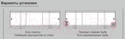 Экран для ванны МетаКам Монолит-М 1.48 (кремовый)
