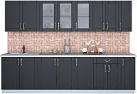 Готовая кухня Интерлиния Мила Крафт 2.9 (дуб английский) -