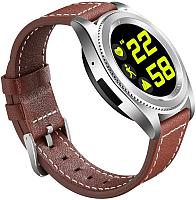 Умные часы NO.1 S9 (коричневый, кожаный ремешок) -