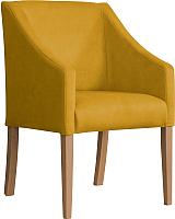 Кресло мягкое Atreve Cube (медовый BL68/дуб) -