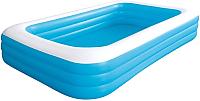 Надувной бассейн Jilong Giant Rectangular Pool 3-ring / 10184 (синий) -