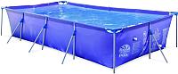 Каркасный бассейн Jilong Rectangular Steel Frame Pools / 17013 (синий) -