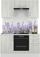 Готовая кухня Горизонт Мебель Европа 1.5 (белый крафт) -