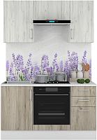Готовая кухня Горизонт Мебель Европа 1.5 (белый/серый крафт) -