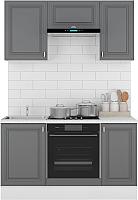 Готовая кухня Горизонт Мебель Ева 1.5 (графит софт) -