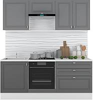 Готовая кухня Горизонт Мебель Ева 2.0 (графит софт) -