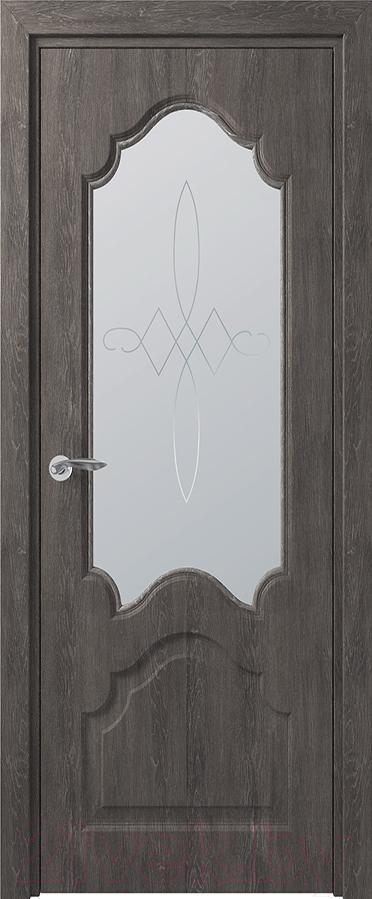 Купить Дверь межкомнатная Юркас, Deform Классика Тулуза ДО 60x200 (дуб шале графит), Беларусь