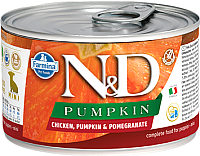 Корм для собак Farmina N&D Grain Free Pumpkin Chicken & Pomegranate Puppy Mini (140г) -