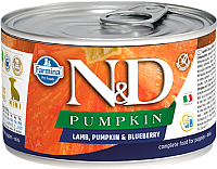 Корм для собак Farmina N&D Grain Free Pumpkin Lamb & Blueberry Puppy Mini (140г) -