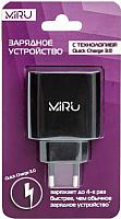 Адаптер питания сетевой Miru Quick charge / 5025 (черный) -