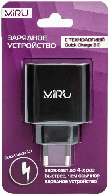 Купить Адаптер питания сетевой Miru, Quick charge / 5025 (черный), Китай