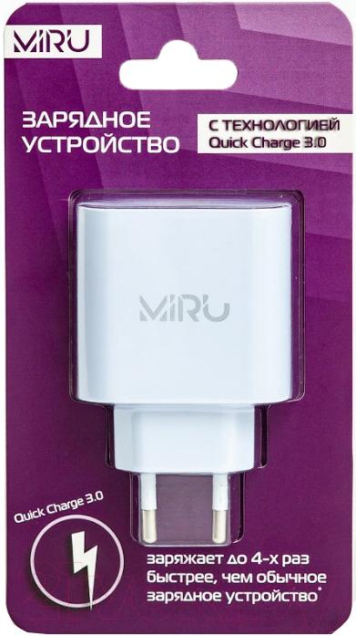 Купить Адаптер питания сетевой Miru, Quick charge / 5026 (белый), Китай