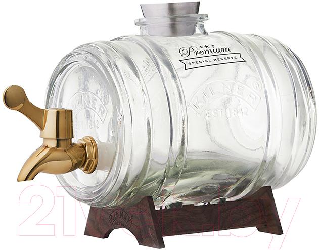 Купить Диспенсер для напитков Kilner, Barrel K-0025.811V (золото), Китай, нержавеющая сталь