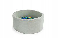 Сухой бассейн Misioo 90x30 200 шаров (светло-серый) -