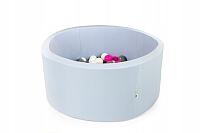 Игровой сухой бассейн Misioo 90x30 200 шаров (светло-синий) -