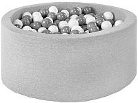 Сухой бассейн Misioo 90x40 200 шаров (светло-серый) -