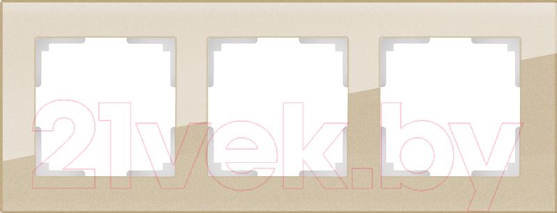 Купить Рамка для выключателя Werkel, Favorit WL01-Frame-03 / a040872 (шампань), Россия, стекло, Favorit (Werkel)