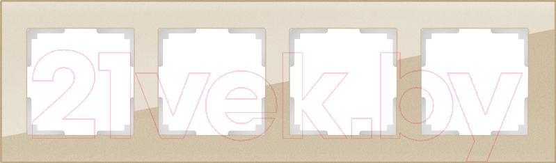 Купить Рамка для выключателя Werkel, Favorit WL01-Frame-04 / a040873 (шампань), Россия, стекло, Favorit (Werkel)
